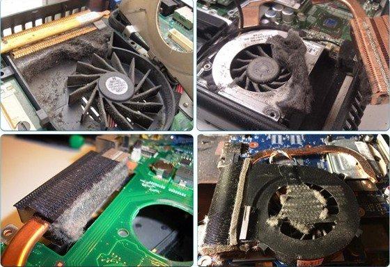 laptop dùng lâu không được vệ sinh và bảo dưỡng